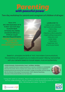 NVC Parenting workshop Kaitaia