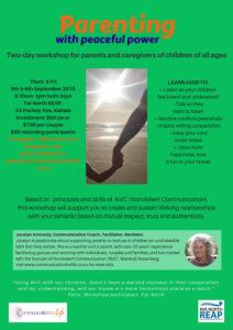 flyer NVC Parenting Jocelyn Kennedy